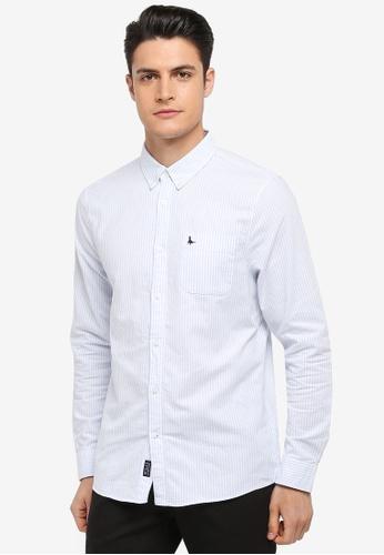 Jack Wills blue Wadsworth Oxford Stripe Shirt 96369AA03D83A6GS_1