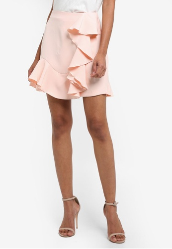 Vesper pink Katana Frill Mini Skirt 21C14AAF17A406GS_1