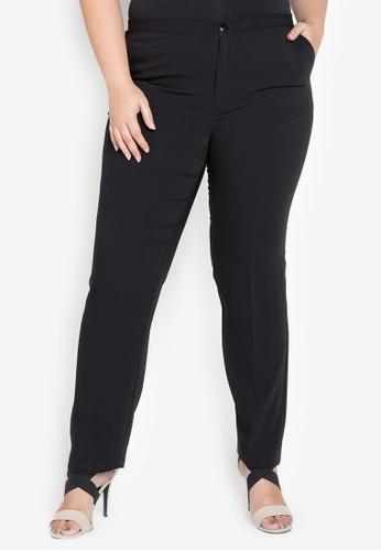 Curvy black BRADEN Straight Cut Pants CU774AA0KFRFPH_1