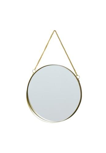 DILAS HOME Wall Hanging Gold-egded Round Mirror - Big 30cm 70B95HLBF90C81GS_1