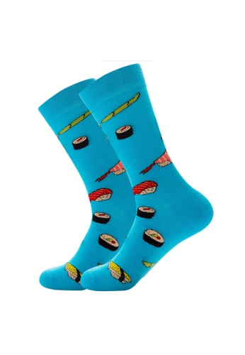 Kings Collection blue Sushi Pattern Cozy Socks (EU39-EU45) 1C807AA4C6DD47GS_1
