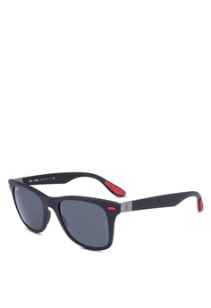 559a5d8e4616 Ray-Ban black Ray-Ban Scuderia Ferrari Collection RB4195M Sunglasses  5BD2DGL4403460GS 1