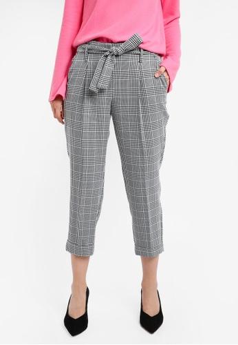 Dorothy Perkins black Petite Monochrome Checkered Trousers DO816AA0SKTJMY_1