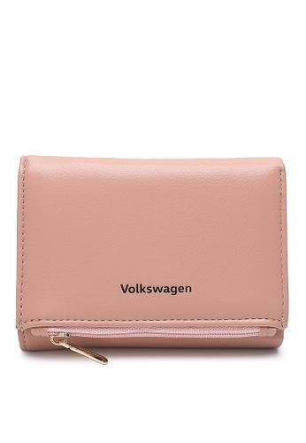 Volkswagen pink Faux Leather Short Purse C0183AC3B242E9GS_1