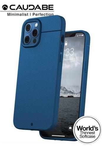 "Caudabe blue Case iPhone 12 Pro / iPhone 12 6.1"" - Caudabe Sheath Softcase Slim Casing - Ocean Pacific Blue A2B89ES9FDC5D0GS_1"