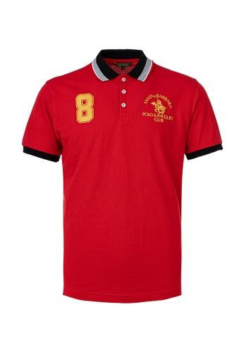 Santa Barbara Polo & Racquet Club red SBPRC Regular Polo Shirt 10-9411-64 725AFAA3E6D0AAGS_1