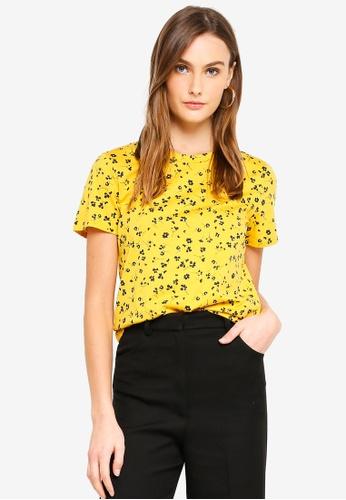 Banana Republic 黃色 品牌刺繡T恤 5F029AA0893366GS_1