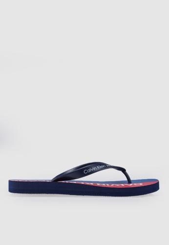Calvin Klein blue and multi Errol Flip Flops 95768SH3D6616DGS_1