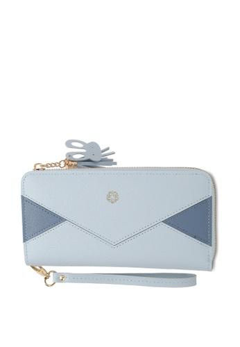 Wild Channel blue Faux Leather Long Wallet F5BA8ACFC13E0AGS_1