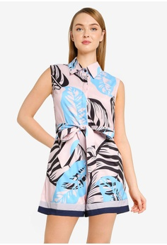bdf33e85a820 Megane pink Best Frenz Nizhoni Floral Print Romper A6436AAAE7CF9AGS 1