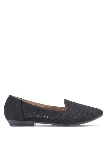 Louis Cuppers black Perforated Loafers LO977SH36BDRMY_1