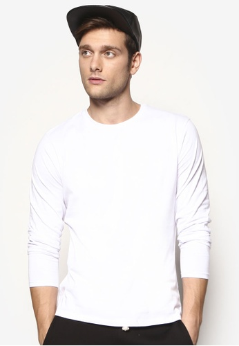 Electro Denim Lab white Brushed Long Sleeve T-Shirt EL966AA27UYMMY_1