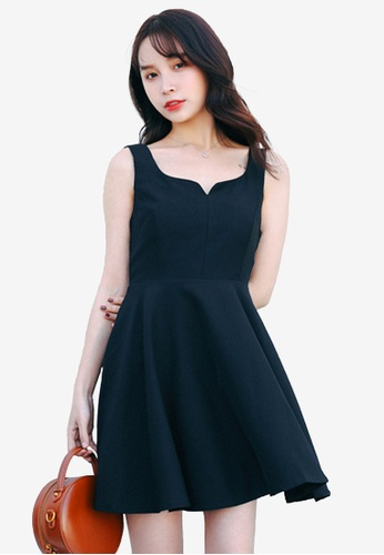 Shopsfashion black Sweetheart Fit And Flare Dress 3F695AA0558AFAGS_1
