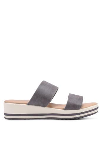 Bata 灰色 懶人楔型鞋 0B920SH379F856GS_1