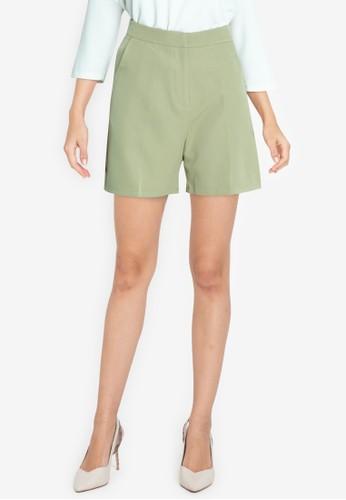 ZALORA WORK green Tailored City Shorts E16D0AA4EC97F8GS_1