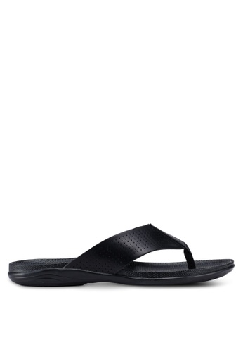 Bata black Perforated Sandals 31326SH35E9879GS_1
