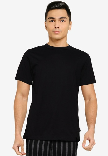 UniqTee black Sustainable Cotton T-Shirt A0325AAC31BEE4GS_1