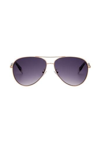 Furla Furla SFU050 Gold Sunglasses  FU454AC0RAMNMY_1