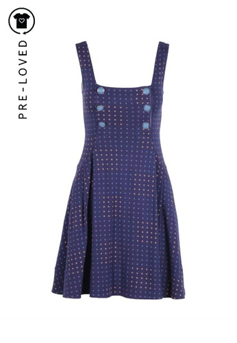 Marc By Marc Jacobs blue Pre-Loved marc by marc jacobs Blue Sleeveless A-line Dress 443BCAA3E85281GS_1
