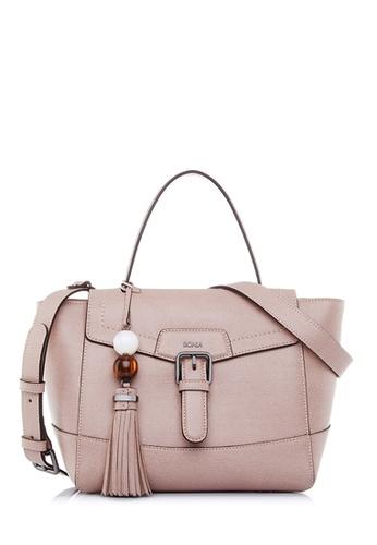 BONIA pink Blush Pink Betsy Satchel M 77B6CAC1BDFF9BGS_1