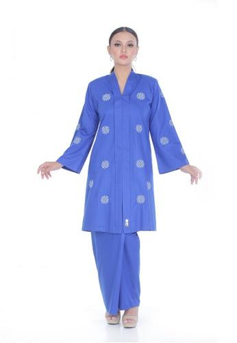 Zara Kebaya Riau Sulam Melur from Rumah Kebaya Bangsar in Blue