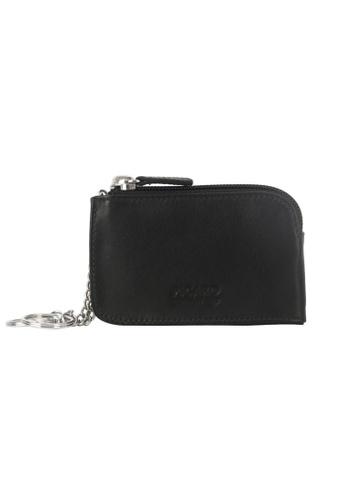 Picard black Brooklyn Coin Pouch with Keychain PI517AC85EDYSG_1