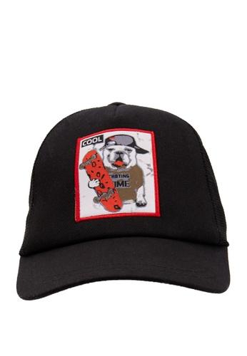 DeFacto black Printed Baseball Hat 3AB31KCB0234E3GS_1