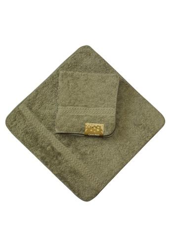Cotton Fields grey Cotton Fields Face Towel Plain ED5FCHLCE4D3BBGS_1