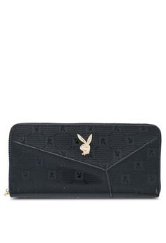 1630b72c10b060 PLAYBOY BUNNY black Playboy Bunny Ladies Zipper Purse 23729AC2221D63GS_1