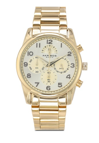 Akribos XXIV gold Rugged Chronograph Watch 42390ACACBFFFFGS_1
