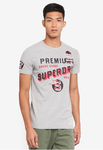 Superdry grey Authentic Supply Tee BC5FBAA6C143CAGS_1