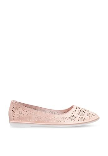 BETSY 粉紅色 Hannah Lasercut Flats 617D5SH5F35FC7GS_1
