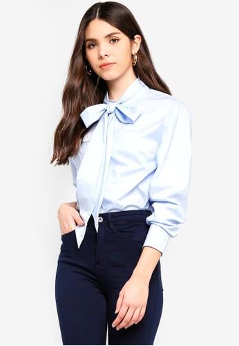 ICHI blue Snilla Shirt FA938AABFC4E83GS_1