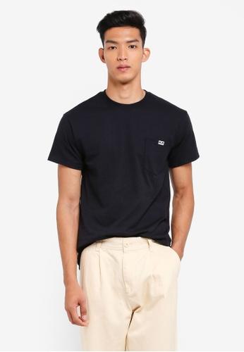 OBEY 黑色 口袋長袖T恤 5A106AA6232B6BGS_1