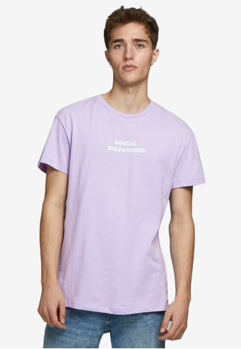 Jack & Jones purple Keep Calm Crew Neck Tee 64E77AAA14DE4DGS_1
