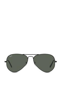 b8332e002b Ray-Ban black Aviator Large Metal RB3025 Sunglasses RA370GL28SATSG 1