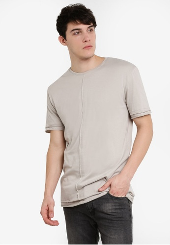 Factorie grey Short Sleeve Layer Tee FA880AA95JFSMY_1