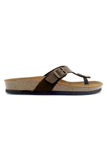 SoleSimple brown Rome - Brown Leather Sandals & Flip Flops 0117ESHC1ABA77GS_1