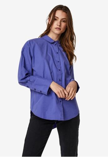 Vero Moda blue Long Sleeved Shirt DF19BAA5A7552DGS_1
