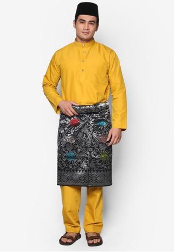 Amar Amran yellow and gold Baju Melayu Moden 8EBB7AA3F0ADC0GS_1