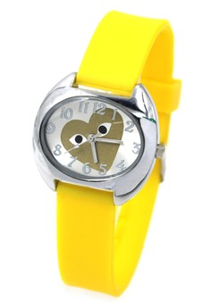 Play Heart Silicon Strap Watch 3028L