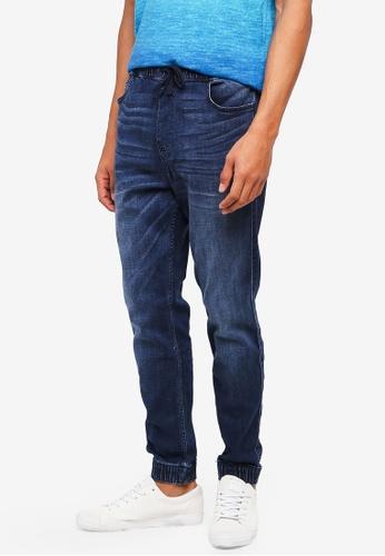 Hollister 藍色 抽繩縮口牛仔褲 5830CAA83126F1GS_1