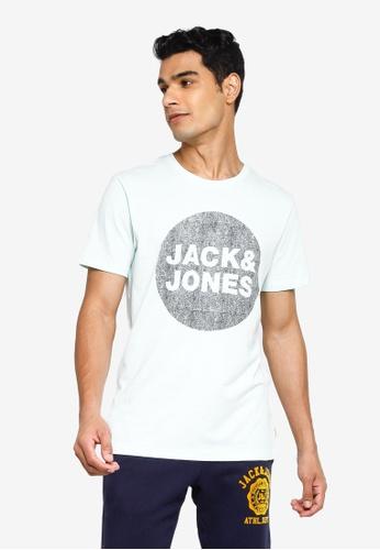 Jack & Jones blue Graphic Crew Neck Tee B90C6AABF82E0BGS_1