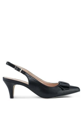 Carlton London black Sling Back Heels 0D61BSHEB6C258GS_1