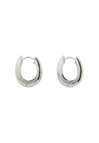 Mango silver Twisted Hoop Earrings B322AAC1136ED1GS_1