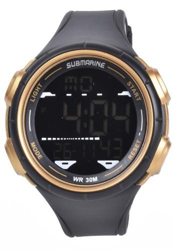 Digitec black Submarine - Jam Tangan Pria - Black - Resin Strap - TP1354-B 9D300ACDF2EB8BGS_1