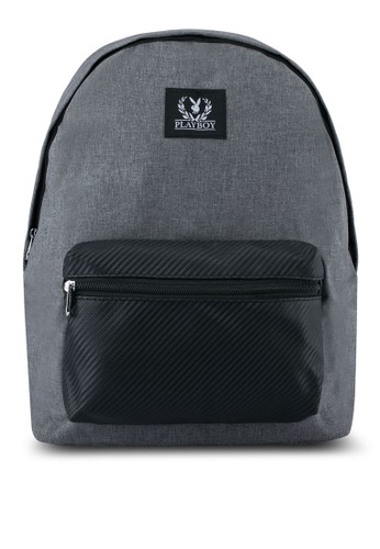 Playboy grey Playboy Backpack With USB Charging Port PL371AC0SK0NMY_1