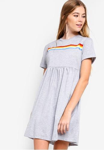 Something Borrowed grey Rainbow Jersey Dress F2D1AAA90351CCGS_1