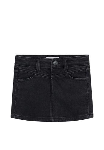MANGO BABY grey Denim Skirt 196ECKA75A944DGS_1