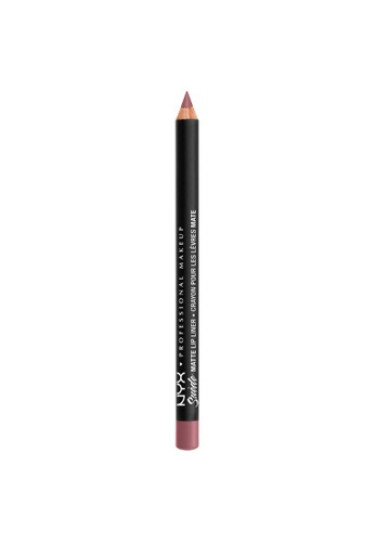 NYX Professional Makeup brown NYX Professional Makeup Suede Matte Lip Liner - SMLL 62 -  LAVENDER & LACE 2FBFEBE3339D5CGS_1